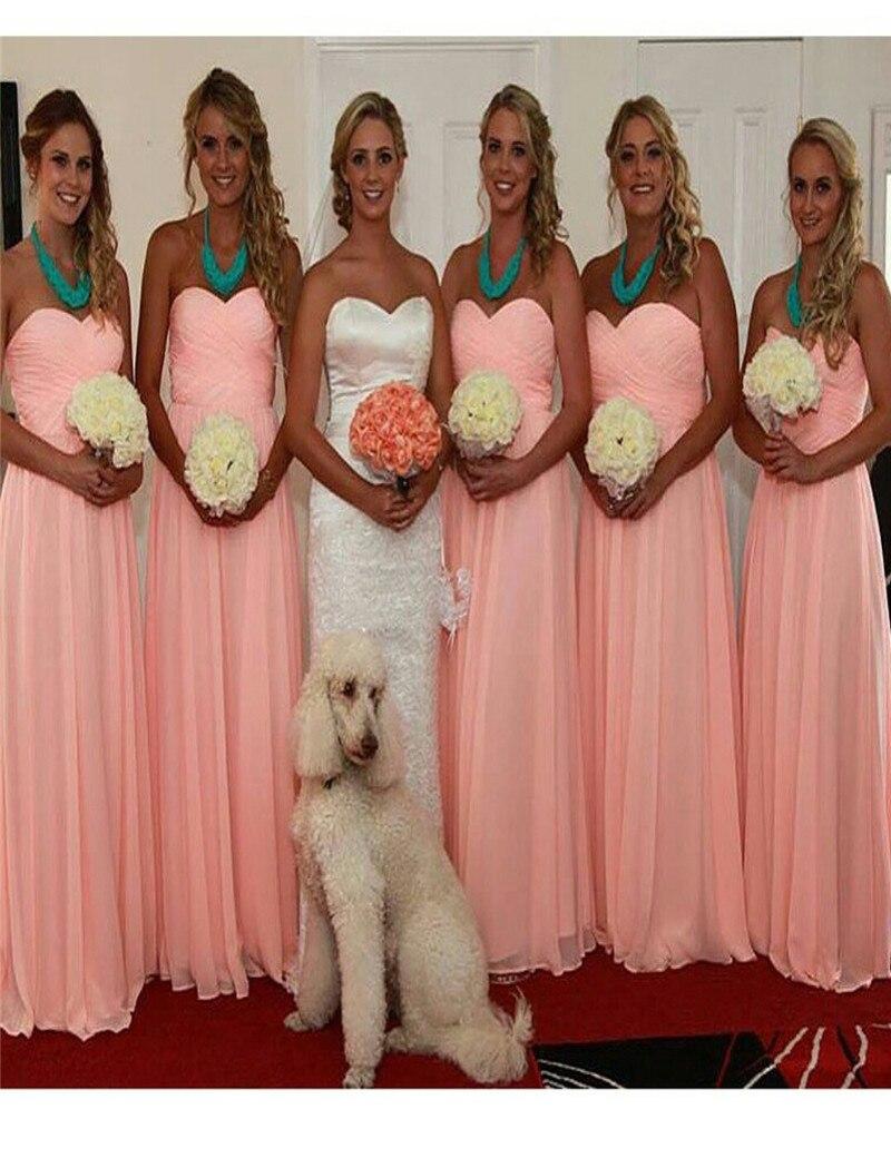 Online get cheap 1 shoulder pink wedding dress aliexpress wholesale long pink dress bridesmaid sweetheart off the shoulder a line bridesmaid gowns 2017 cheap women ombrellifo Images