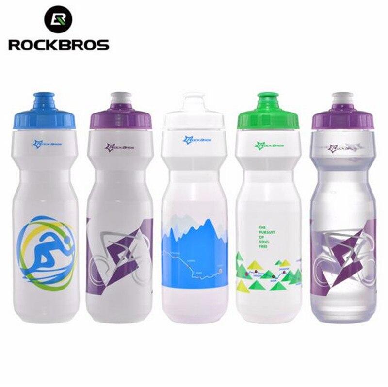 ROCKBROS MTB Cycling Sport Bicycle Portable Kettle Water Bottle Plastic Outdoor Sports Mountain Bike Drinkware 750ML
