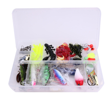 101Pcs/Set Trout Bass Fishing Lures With Box Crankbaits Set Kit Soft Spinner Artificial lure Fish Tackle Set Tool 370g