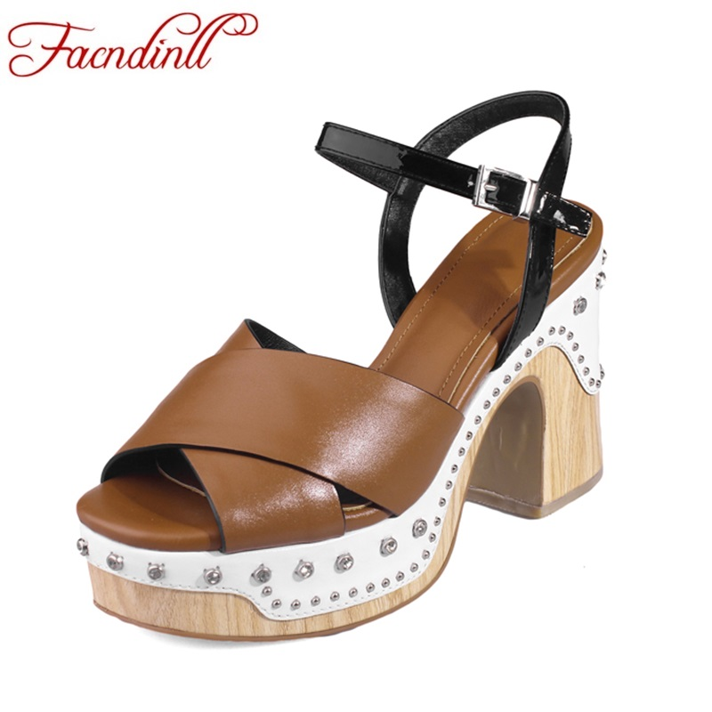 genuine leather women sandals new fashion summer high heels peep toe platform shoes woman dress party wedding shoes size 34-39 2017 new sexy thin high heels peep toe shoes woman sandals genuine leather women silver party wedding gladiator summer sandals