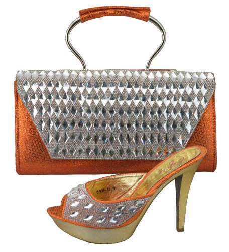 ФОТО Shoes With Matching Bags African Shoe And Bag Set For Party In Women Ladies Pumps Shoes And Handbag Set With Stones 1308-34