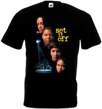 Set It Off V3 T-shirt Black Movie Poster All Sizes S-3XL Funny Tops Tee Casual O Neck T Shirts Men Casual Slim(China)