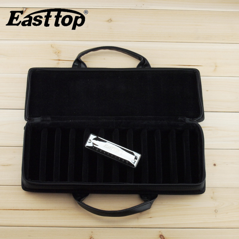 Easttop 10-hole Blues Harmonica Case / Diatonic Harmonica Bag / Harp - Երաժշտական գործիքներ - Լուսանկար 4