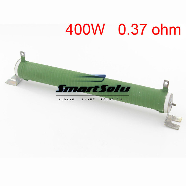 Free Shipping Customized Green Fixed Type Pipe Resistance 400W 0.37 ohm Ceramic Tube Resistor цены