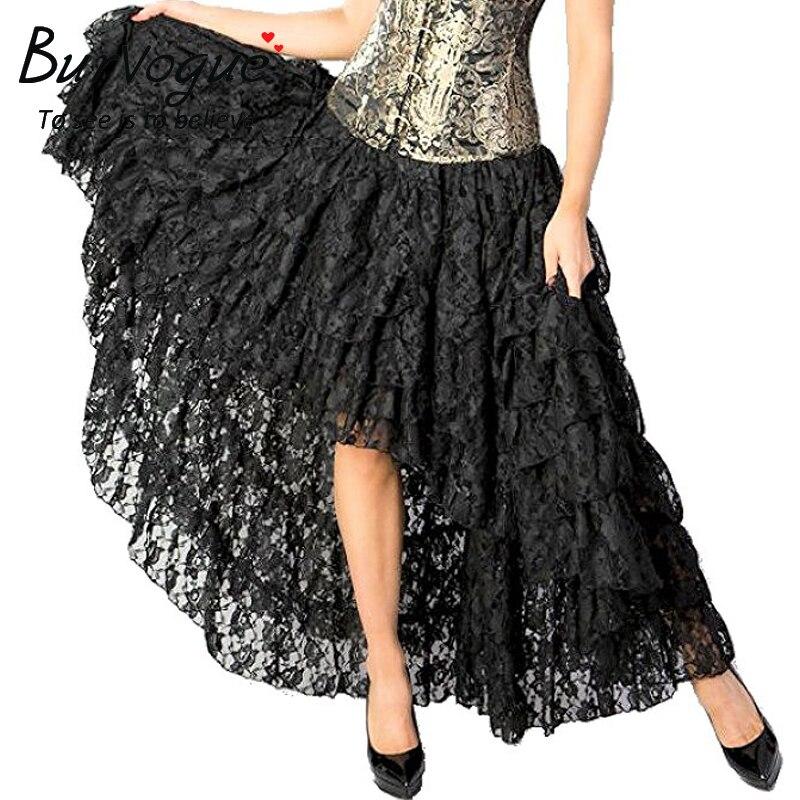fb654d09a92 Burvogue Women New Arrival Steampunk Skirt Fashion Long .