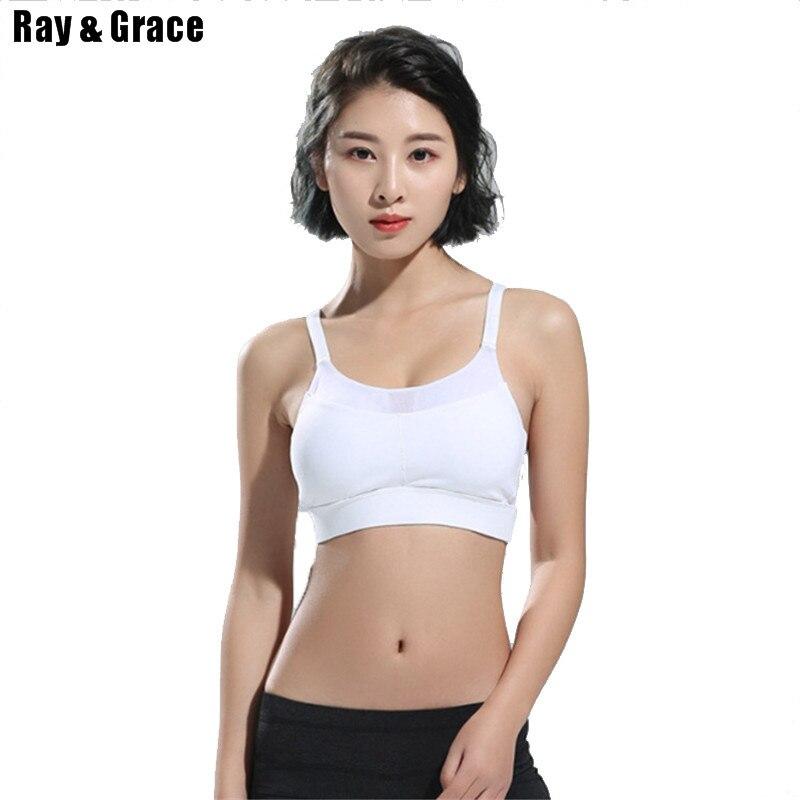 2017 Gym Sports Bra Women Fitness Running Bra Tops Yoga Cross Bandage Exercise Yoga Vests Shockproof Sport Tank Tops Push up Bra