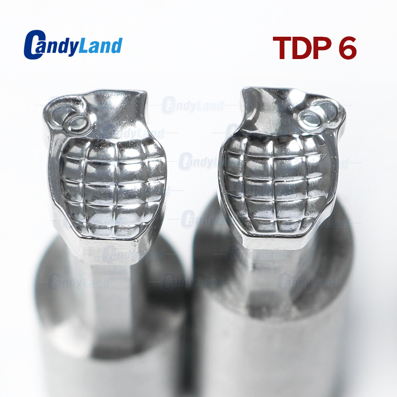 CandyLand TDP6 Bomb Milk Tablet Die Punch Press Mold Candy Punching Die Custom Design Calcium Tablet Punch Die For Press MachineCandyLand TDP6 Bomb Milk Tablet Die Punch Press Mold Candy Punching Die Custom Design Calcium Tablet Punch Die For Press Machine