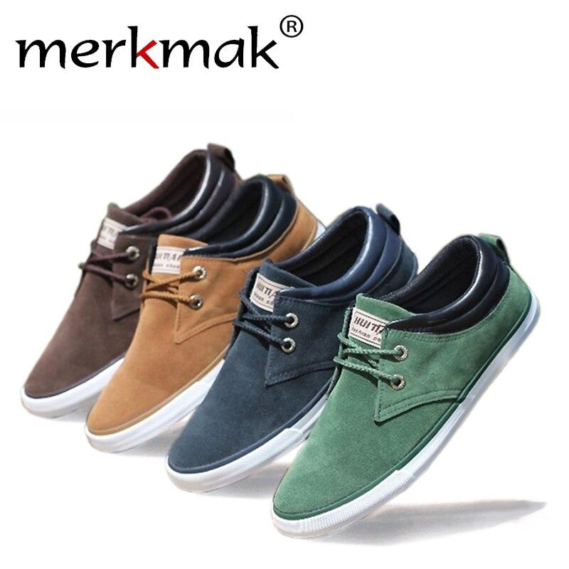 New 2017 Top Fashion brand men Flat Shoes Canvas men's flats shoes men,Daily casual shoes Spring Autumn suede men shoes LS083 power reserve 1x