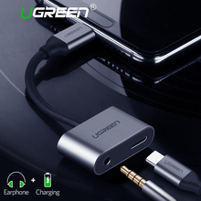 Ugreen USB C to Jack 3.5 Type Cable Adapter For Huawei P20 Pro Xiaomi Mi 6 8 Note3 Mix 3.5mm AUX Earphone Converter