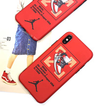 379ae1489ba45a Trend Sports Brand Air Jordan 1 Name off Ow Phone Case For iphone 6 7 8 10  plus X XR XS MAX White Soft Silicon Suprem Cover Case