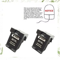 2Black Ink Cartridge CH563EE For HP301 HP 301XL For HP DeskJet 1050 2050 2050s 2510 3050a