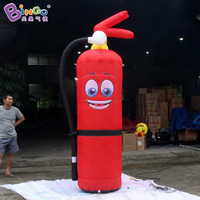 Customized 2.5m high big inflatable fire extinguisher promotional airblown fire extinguisher balloon with smile toys