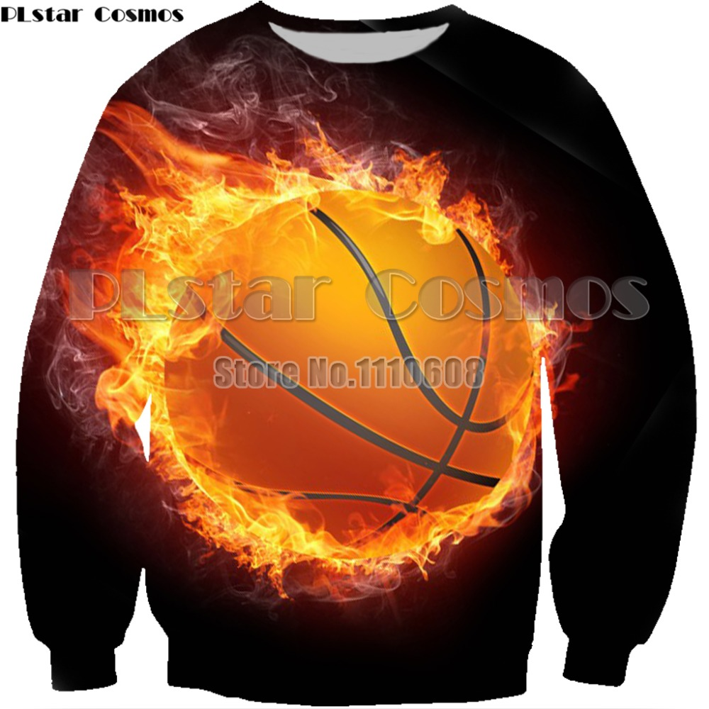 Ice Fire Printed basketballt hoodies Men Women Sweatshirts Hooded Coat Streetwear Tracksuits 3d Pocket Pullover Funny Drop Shop
