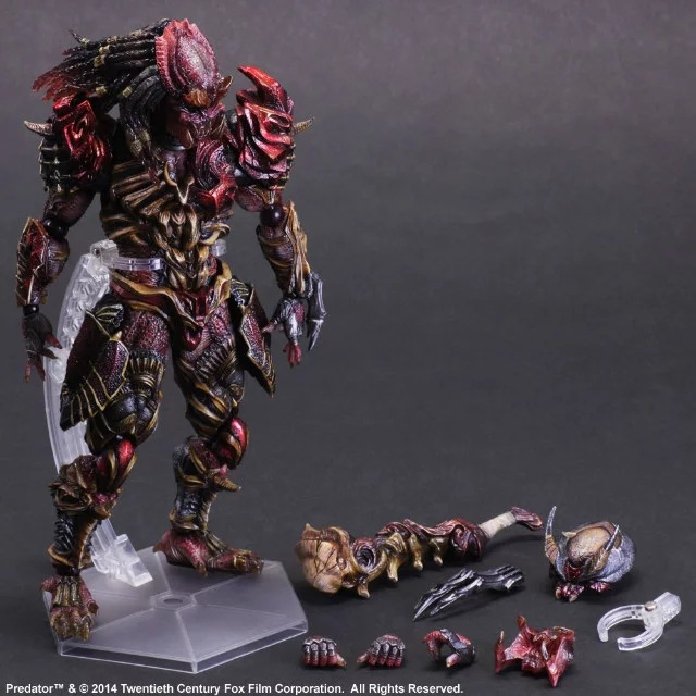 Halloween Toy Gift Alien Hunter Action Figure Collection 27cm PA Kai Predator Model Doll Movable Decorations halloween toy gift halo 5 guardians action figure collection 25cm pa kai master chief john117 model doll movable decorations