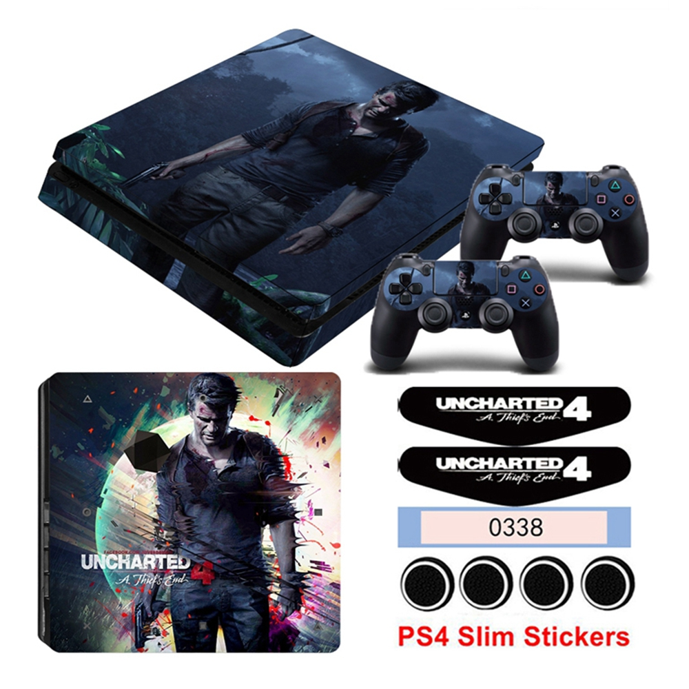 Uncharted 4 Vinyl Game Skin Sticker For Playstation 4 Slim Ps4