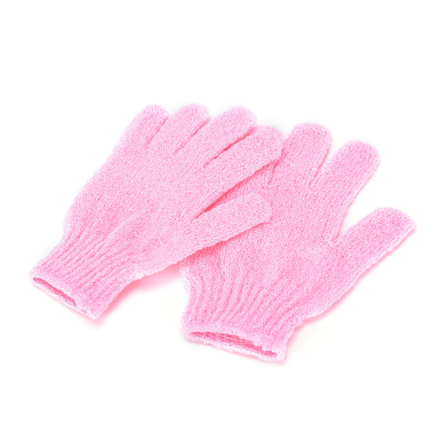 1 Pair Shower Bath Gloves Exfoliating Wash Skin Spa Massage Body Scrubber Cleaner Bathing Cleaning Products Random Color Hot 3