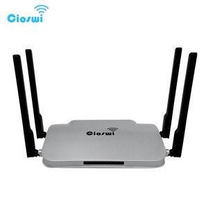 Image 1 - Gigabit wifi roteador 802.11ac genuíno 1200 mbps dupla banda 512 mb ddr3 mt7621 5dbi antenas externas forte sinal para escritório