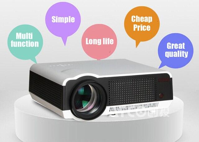 5500 Люмен led86 Full HD 1280*800 кинотеатр Проектор hdmi проектор LED LCD Proyector 1080 P Видео Портативный проекторы