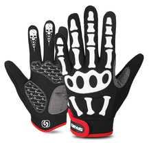 cycling gloves, full finger gloves, riding outdoor sports sahoo outdoor windprood full finger cycling gloves black pair