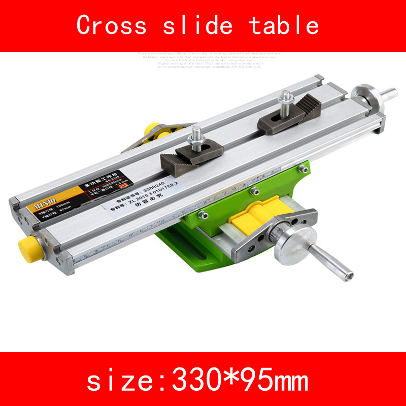 mini Cross slide table module adjust X axis stroke 190MM Y axis stroke 67MM for drilling Milling machine DIY alsgs alb 310 200rpm 450in lb110v 220v horizontal power feed auto power table feed for milling machine x y z axis