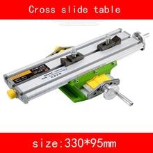 купить mini Cross slide table module adjust X axis stroke 190MM Y axis stroke 67MM for drilling Milling machine DIY онлайн