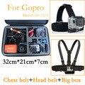 Тела Комод Крепление Ремня и наконечник ленты и Черный Анти-шок большая коробка Портативный сумка для xiaomi yi sjcam SJ5000 Gopro HD hero 5 4 3 3 + 2