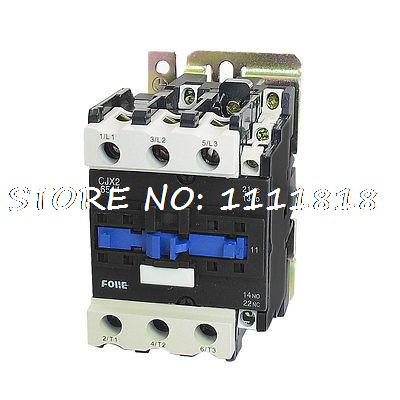 цена на 380V 30KW 3 Phase 3P NC NO AC Contactor DIN Rail Mount 220V Coil CJX2-6511