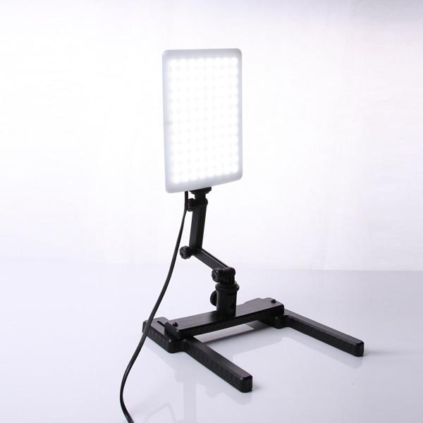 W com Mini Kit de Iluminação Profissional Cn-t96 5600 K 96 Pcs Led Lâmpada Luz 18 Bracket Tiro Stand Conjunto Fotográfica