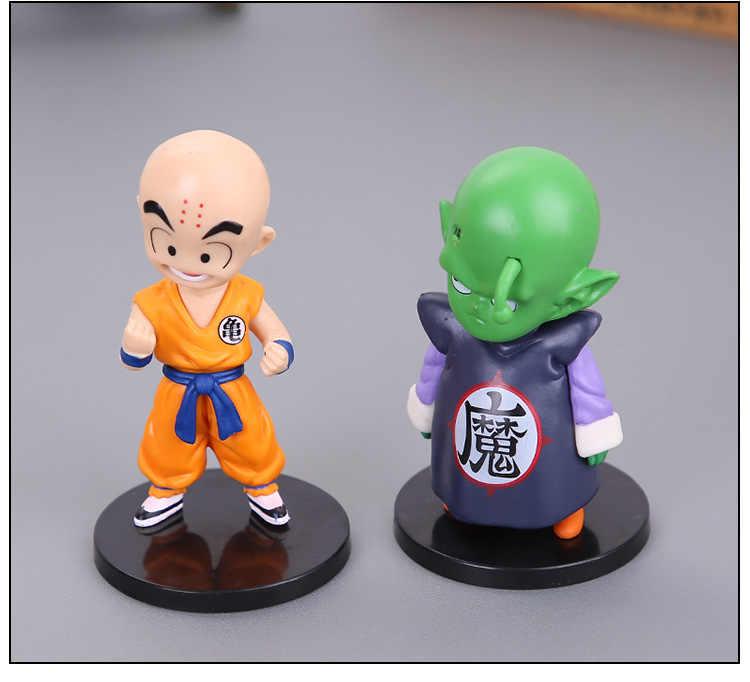 Nova Chegada 6 pçs/lote 13 centímetros Dragon Ball Z Super Saiyan Goku Preto Zamasu Mai PVC Modelo Figura de Ação coleção Boneca de Brinquedo