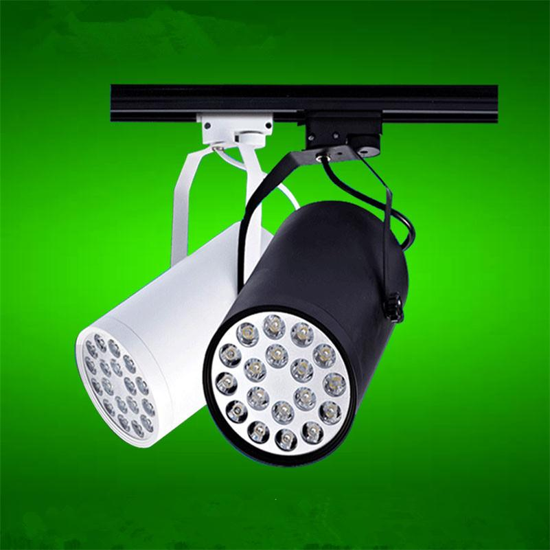 Rail Track Spot Lighting 18W LED Pedant Kitchen Fixture Wall Lamp High Power 1600LM AC85-265V Clothing Stores Tracking Lamps