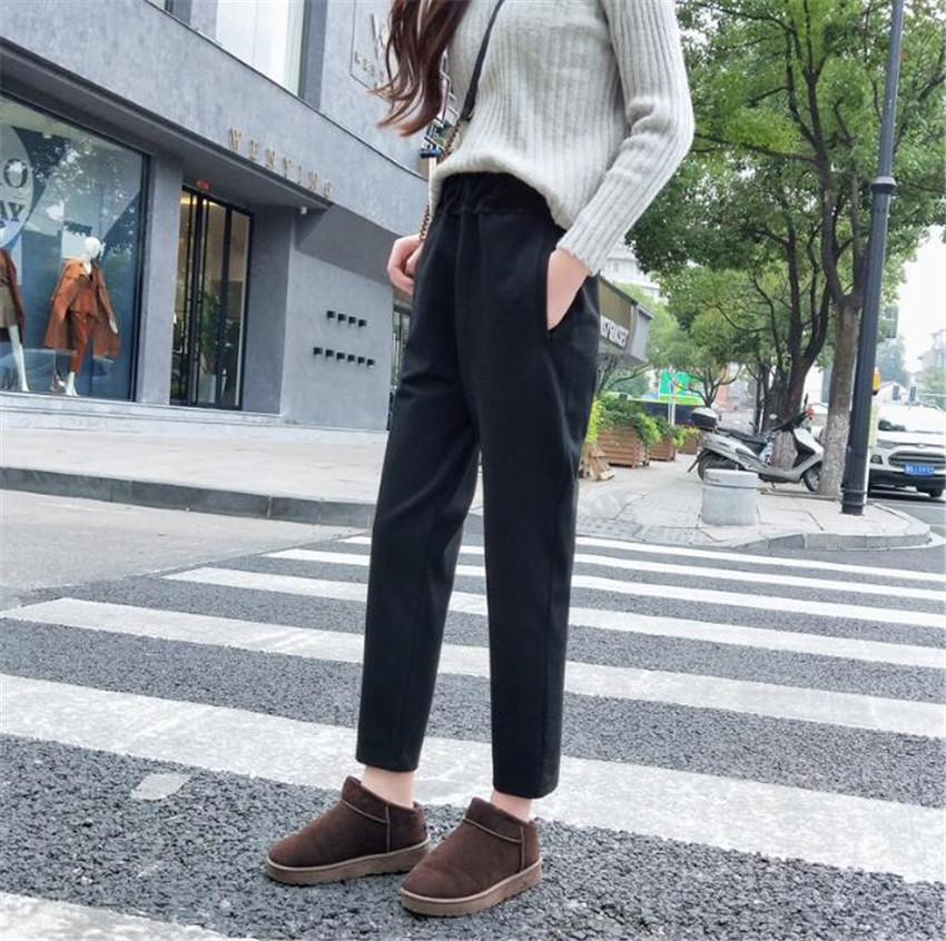 KMUYSL 2018 autumn straight new leisure Korean version Skinny Professional suit pants DZ DZ