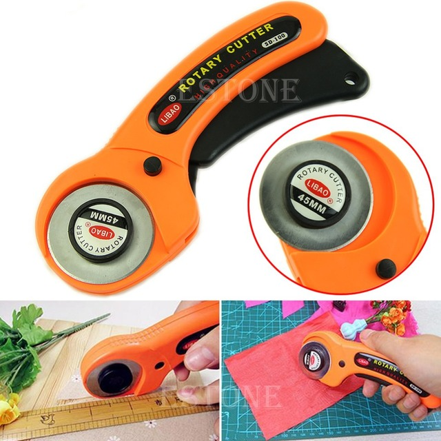 45mm Rotary Cutter Premium Quilters Fabric Sewing Handcraft DIY Leather Tool Fabric Cutter Paper Leather Cutter