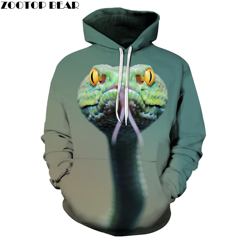 3D Printed Green Snake Hoodies Men Women Sweatshirts Hooded Pullover Brand 6xl Qaulity Tracksuits Boy Coats Fashion Outwear New