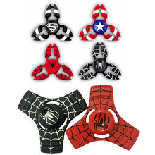 EDC Fidget Speelgoed Angst Stress Volwassenen Amerika Captain Shield Iron Man Spiderman Hand Spinner Vinger Stress Spinner Tri Spinner(China)