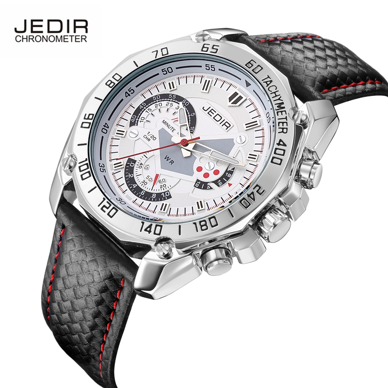Luxury Brand JEDIR Men Watches Business Quartz-watch Male Leather Strap Wristwatch Clock Sports Relogio Masculino Relojes Hombre v6 luxury brand beinuo quartz watches men leather watch outdoor casual wristwatch male clock relojes hombre relogio masculino
