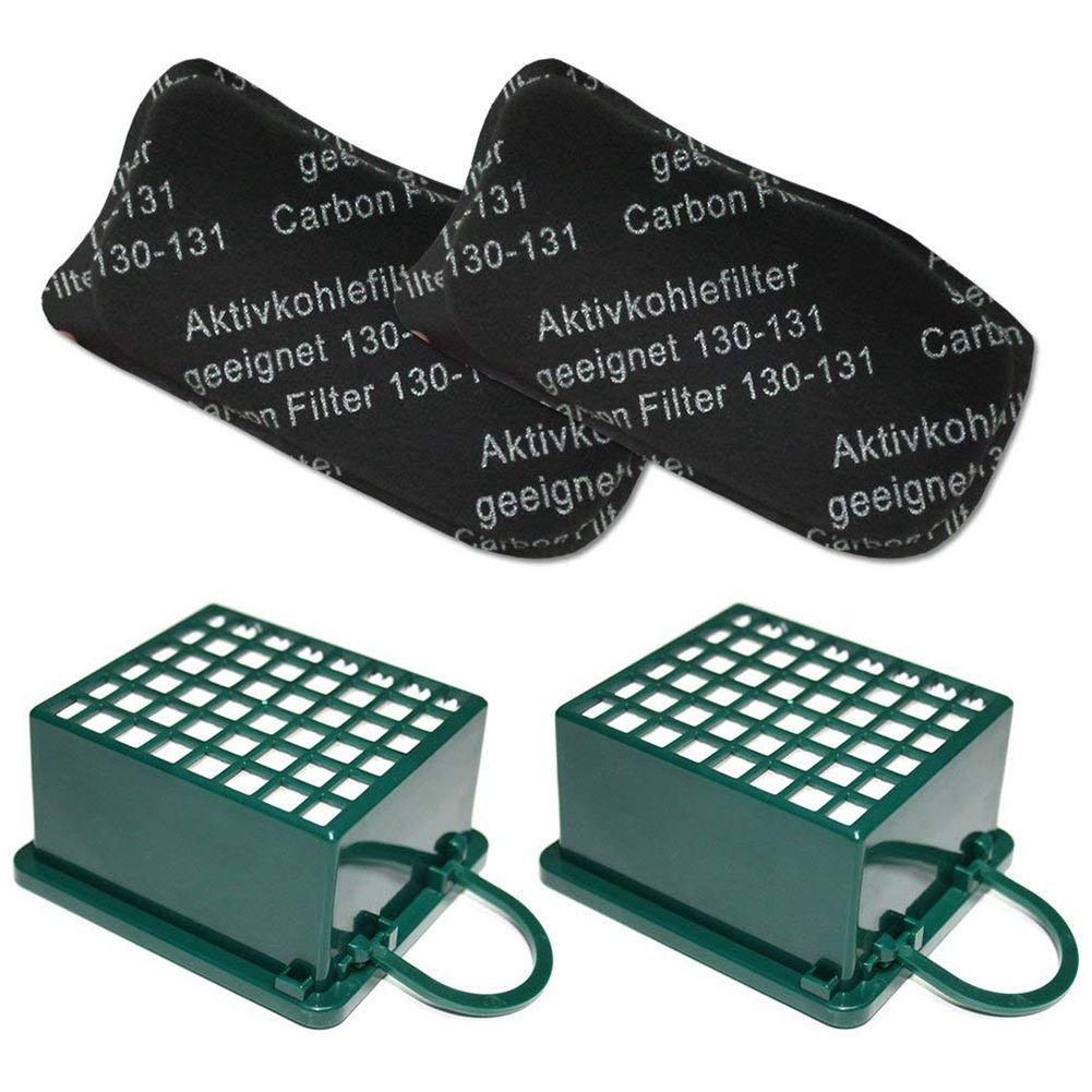 Top Venda 2 x Filtros HEPA E Filtros Adequados Para Vorwerk Kobold 2 x Carbono VK 130 131 SC