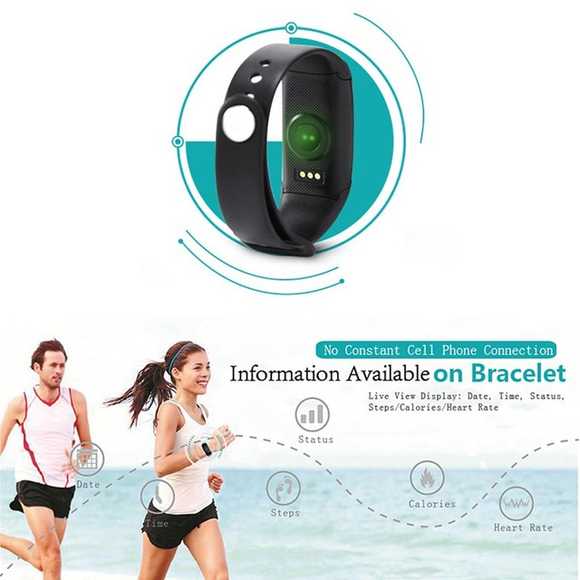 For Makibes JW018 BT4.0 Smart band bracelet & Heart Rate Monitor Activity fitness Tracker Wristband for IOS & Android smartphone