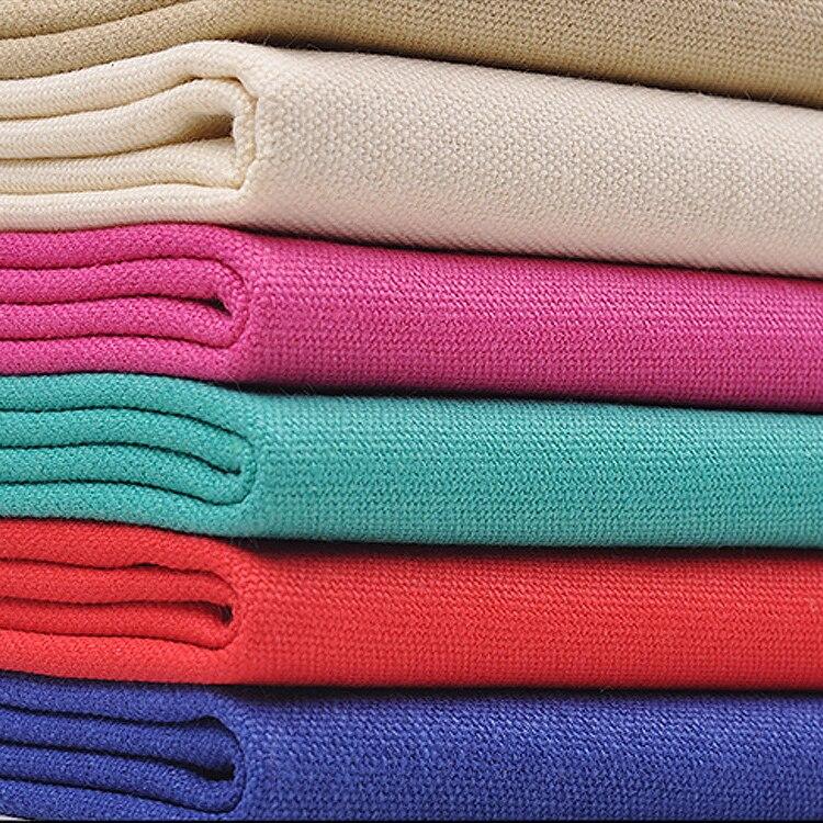 Tissu de toile de coton coloré 50x145 cm pour canapé, sacs en Textile épais, tissu de rideau de bricolage Telas Decorativas Tissus Au mètre Tecidos