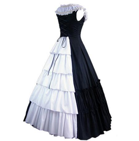 (LD002) Sleeveless Southern Bell Costume Gothic Lolita Dress Victorian Party Halloween Costumes for Women Adult Customized цена
