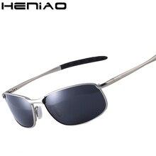 d72902cad75157 HENIAO Marque UV400 Hommes lunettes de Soleil Polarisées homme soleil  lunettes Plein Jante En Alliage hommes lunettes de soleil .