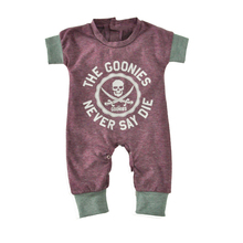 Baby Jumpsuits Summer Cartoon Skull Boys Girls Romper for Infant Soft Cute 2019 New Short Sleeve Infant Baby Boy Rompers