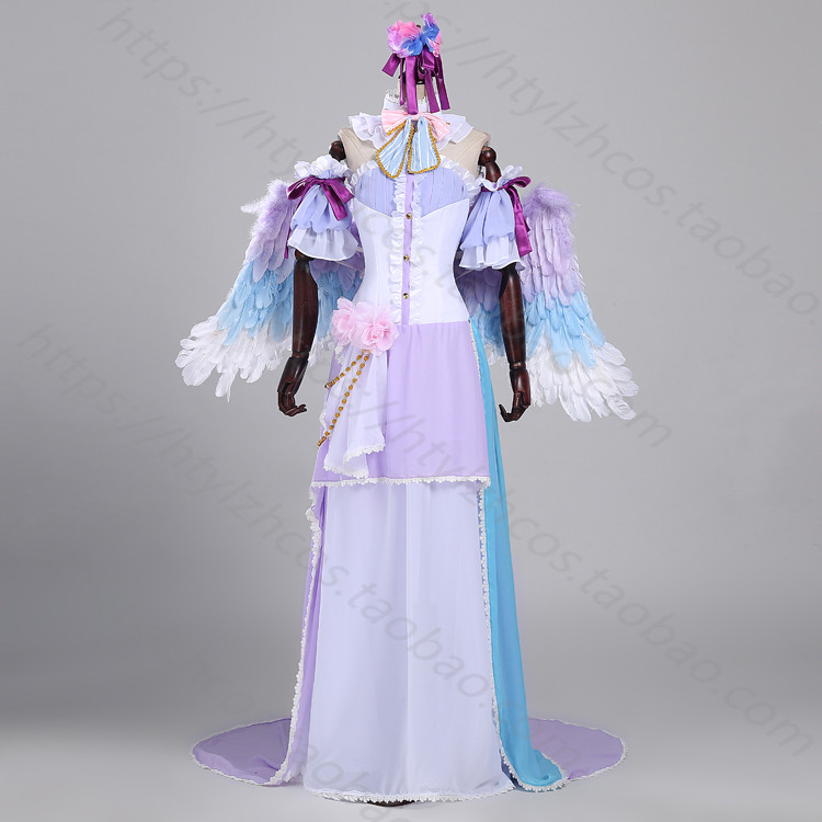 Love Live Tojo Nozomi Cosplay Costume Christmas Dress White Valentine's Day Angel Awaken Dress Custom-Made love island live 14 00 17 00