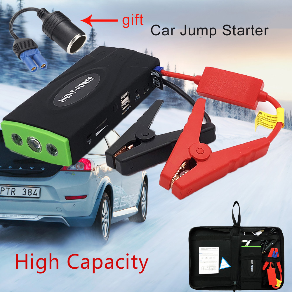 38000mAh Car Jump Starter Power Bank Emergency 600A Car Battery Charger For Petrol Diesel 12V Portable Starting Device Buster