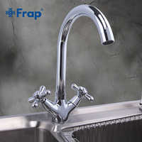 Frap Deck Mounted Brass Basin Faucet Sink Washbasin Water Tap Kitchen Faucets Hot and Cold Water Chrome Mixers Dual Handle F4025