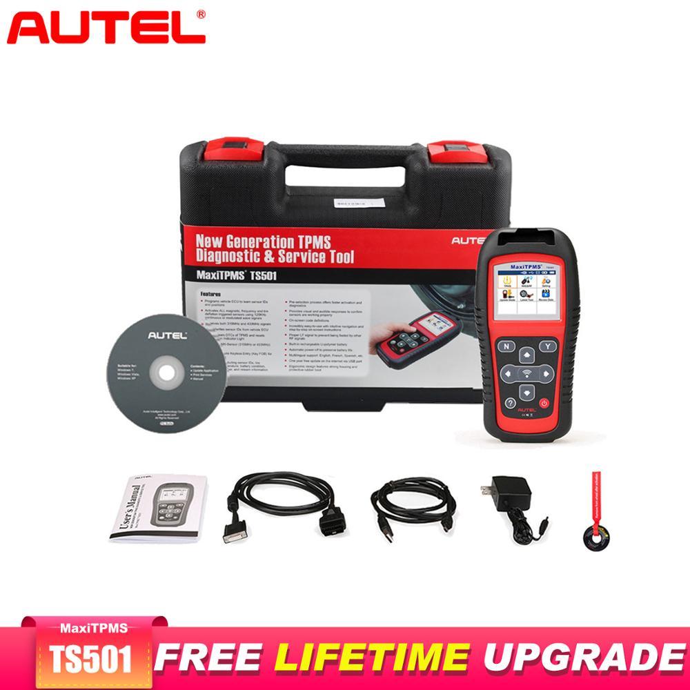 Autel MaxiTPMS TS501 OBD2 Scanner Diagnostic Tool Scaner Automotivo Car Tire Repair tool Code Reader TPMS Service