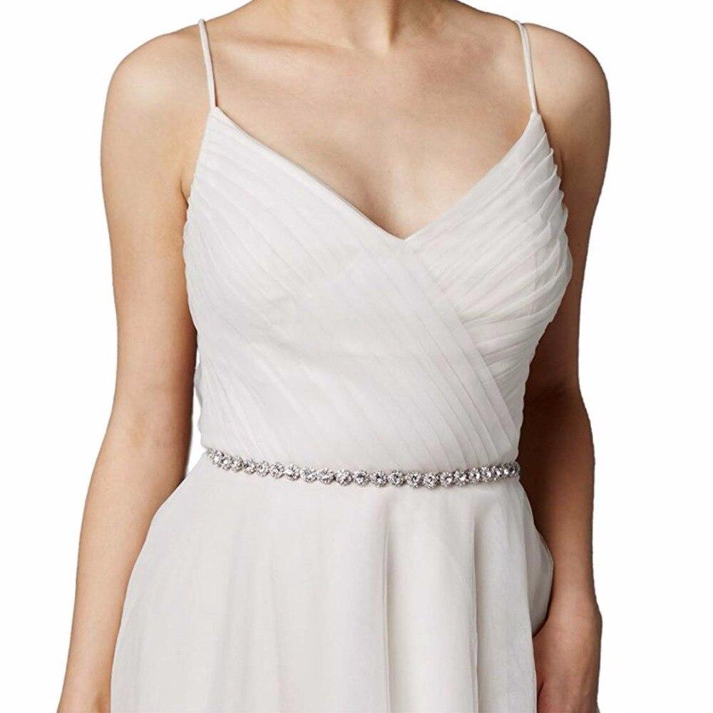 Elegan Wedding Dress Beaded Belt Crystal Bridal Sash Rhinestone Ribbon Sightly