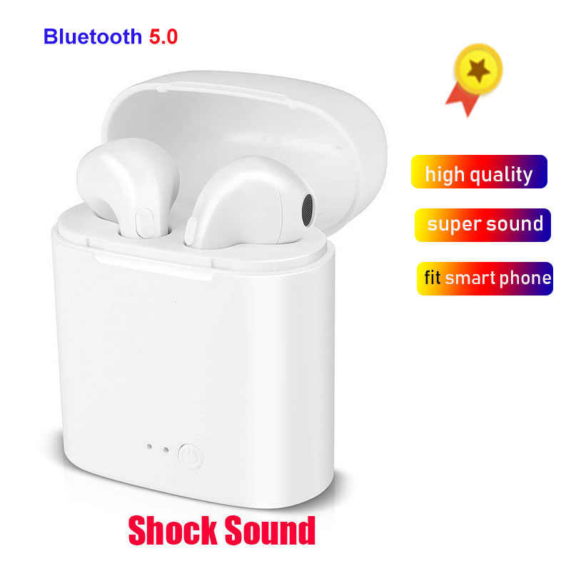 I7S TWS auriculares bluetooth inalambrico 5.0 Earphones Stereo Bass Wireless Headset with Mic For iPhone Xiaomi Samsung