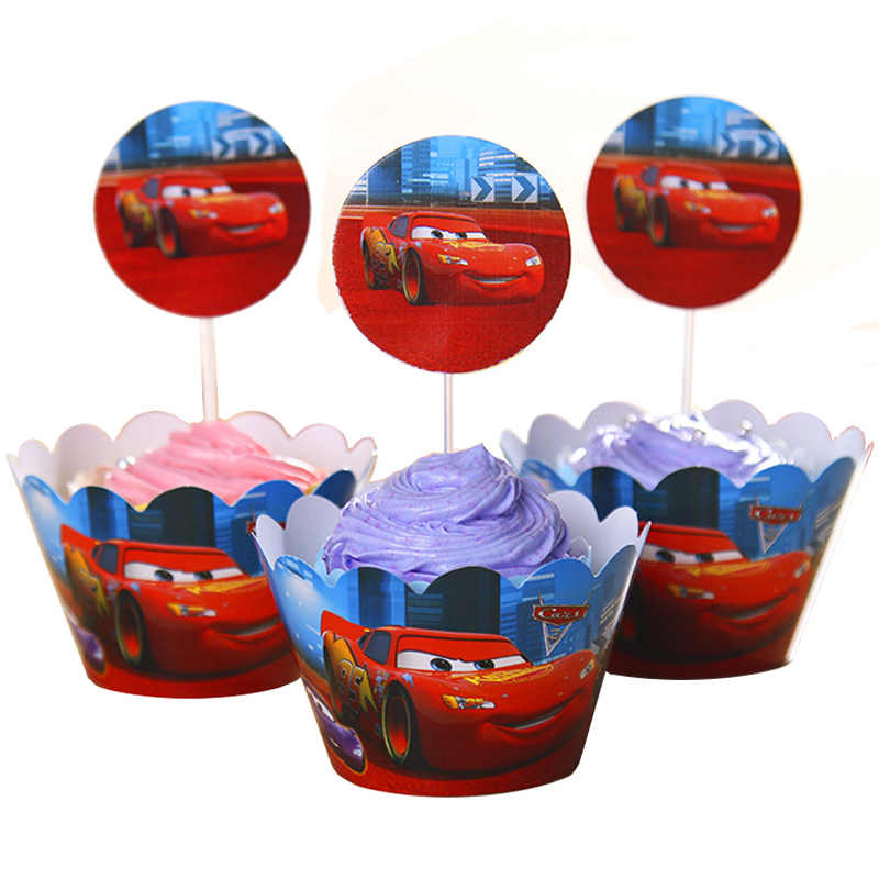 Excellent 24Pcs Cars Batman And Robin Cupcake Wrappers Topper Pickers For Personalised Birthday Cards Vishlily Jamesorg