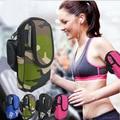 Función holder deportes caja del brazal del teléfono móvil en la mano para iphone brazalete con auriculares agujero profesión gimnasio bolsa transpirable