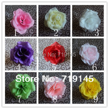 100PCS 9colors Artificial camellia rose flower head DIY  wedding candy garland decoration small , gift flowers